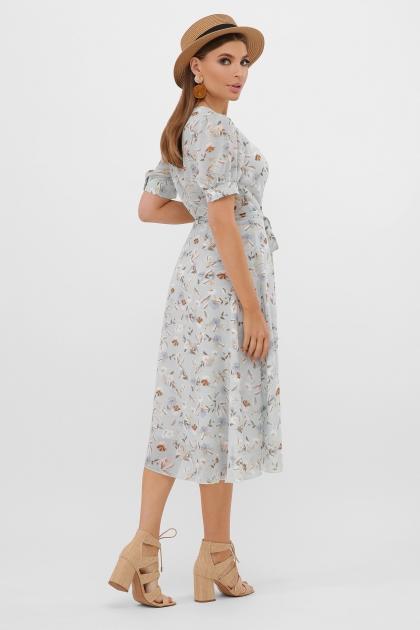 . Платье Алеста к/р. Цвет: мята-цветы в интернет-магазине