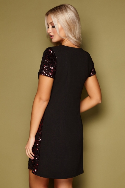 черное платье с пайетками. Платье Ираида к/р. Цвет: черный-бордо цена