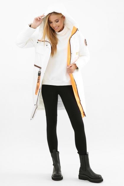 . Куртка 297. Колір: 26-белый-оранжевый в Украине