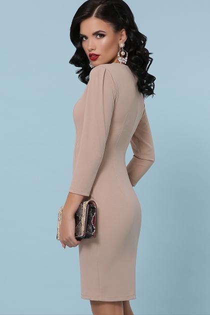 Платье выше колен темно-синего цвета. Платье Модеста д/р. Цвет: бежевый в интернет-магазине