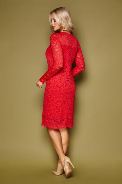 кружевное красное платье. Платье Сания д/р. Цвет: красный цена