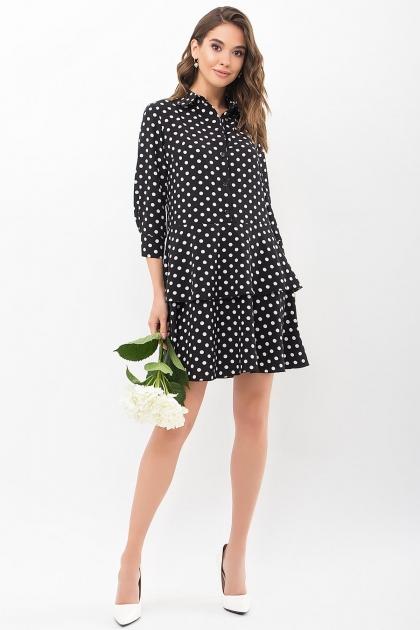 . Платье Салима 3/4. Цвет: черный-белый горох купить