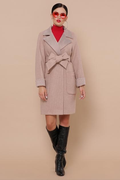 демисезонное песочное пальто. Пальто П-347-М-90. Цвет: 2-песочный купить