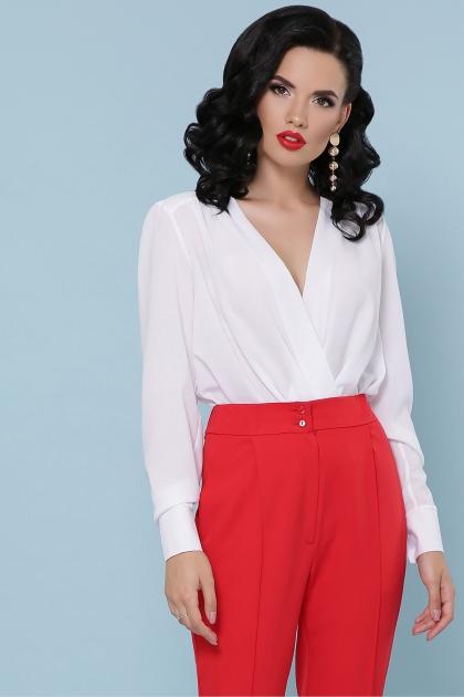 белая блузка-боди. Блуза-боди Карен д/р. Цвет: белый в интернет-магазине
