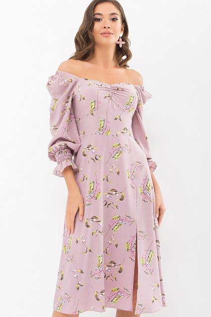 . Платье Пала д/р. Цвет: лиловый-цветы-ягоды цена