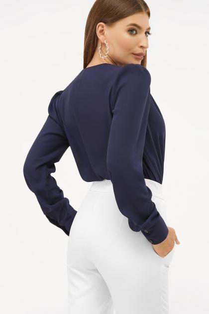 белая блузка-боди. Блуза-боди Карен д/р. Цвет: синий цена