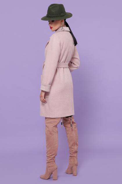 демисезонное песочное пальто. Пальто П-347-М-90. Цвет: 3-пудра цена