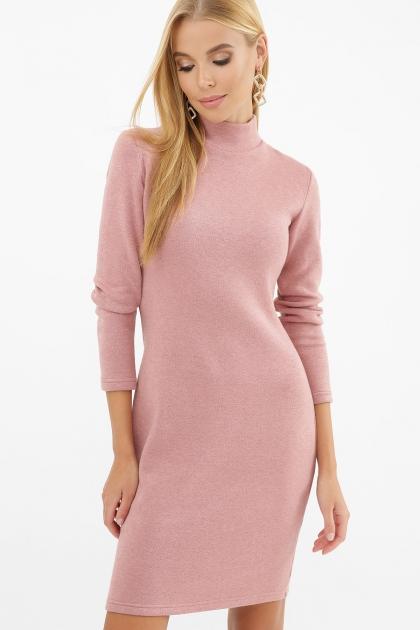 платье-гольф из ангоры. Платье-гольф Алена1 д/р. Цвет: пыльная роза цена