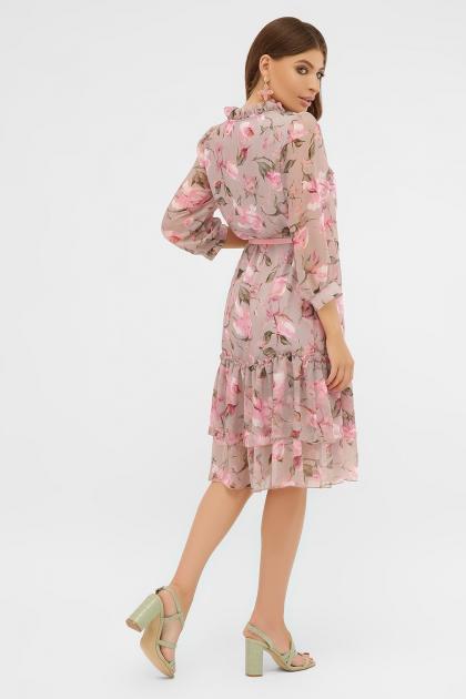 платье хаки из шифона. Платье Элисон 3/4. Цвет: капучино-розы розов. в интернет-магазине