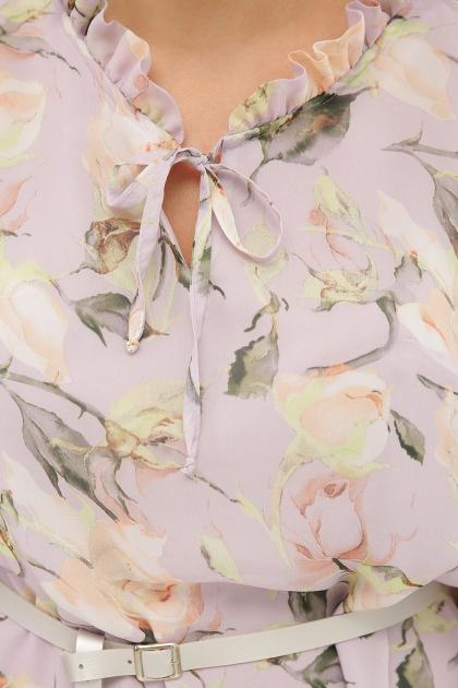 платье хаки из шифона. Платье Элисон 3/4. Цвет: сиреневый- роза ваниль в Украине