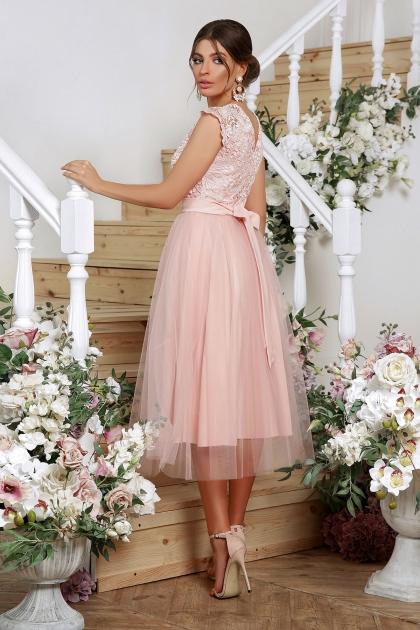 пышное платье миди. Платье Джуди б/р. Цвет: персик в интернет-магазине