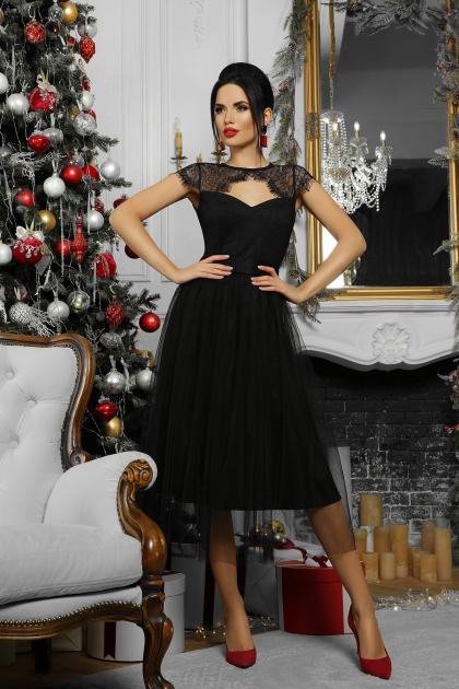 черное платье с кружевом. Платье Флориана к/р. Цвет: черный недорого