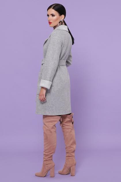 демисезонное песочное пальто. Пальто П-347-М-90. Цвет: 15-св.серый цена