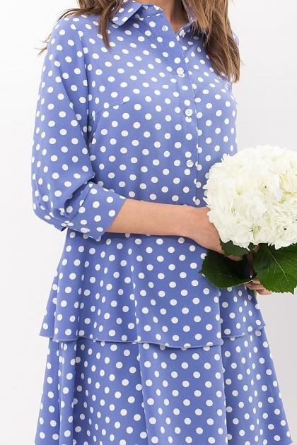 . Платье Салима 3/4. Цвет: джинс-белый горох в интернет-магазине