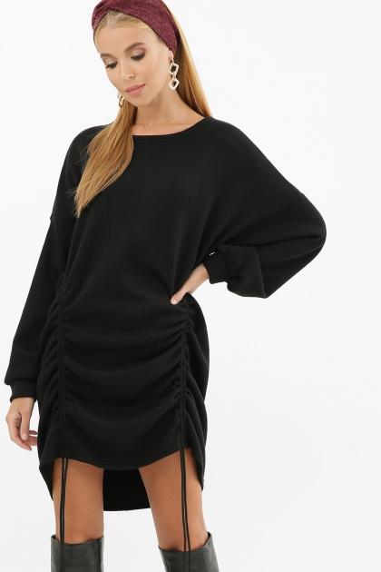 терракотовое платье с длинным рукавом. Платье Диля д/р. Цвет: черный цена