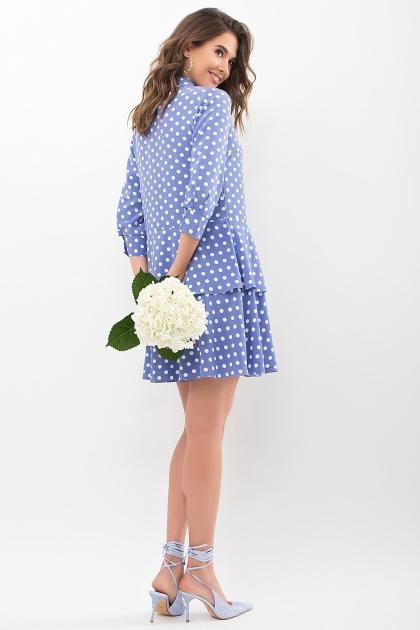 . Платье Салима 3/4. Цвет: джинс-белый горох цена