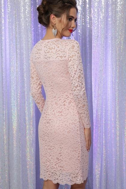 кружевное красное платье. Платье Сания д/р. Цвет: персик в интернет-магазине