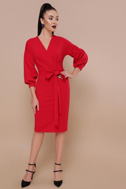 голубое платье с поясом. Платье Одри д/р. Цвет: красный купить