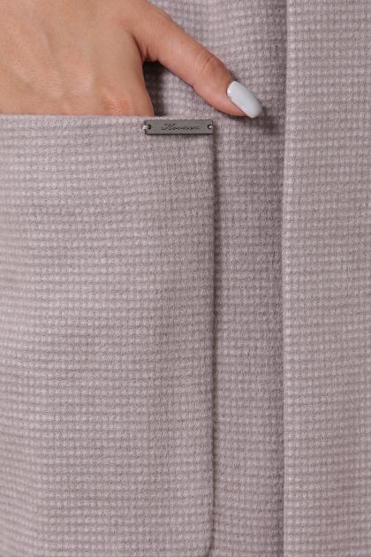 демисезонное песочное пальто. Пальто П-347-М-90. Цвет: 8-св.бежевый в интернет-магазине