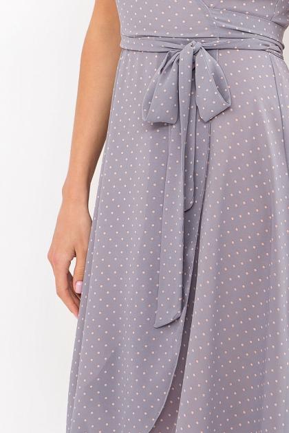 . Платье Алеста к/р. Цвет: серый-пудра м.горох в интернет-магазине