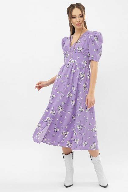 . Платье Фариза к/р. Цвет: сиреневый-белый букет купить
