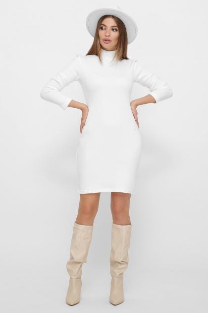 платье-гольф из ангоры. Платье-гольф Алена1 д/р. Цвет: белый купить