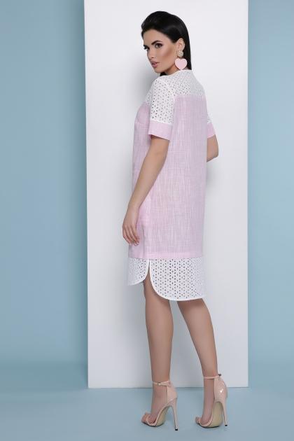 розовое льняное платье. Платье Сати к/р. Цвет: розовый в интернет-магазине