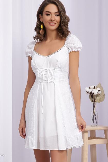 белое платье из хлопка. Платье Ожена к/р. Цвет: белый цена
