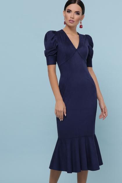 бордовое платье с воланом внизу. Платье Дания к/р. Цвет: синий купить