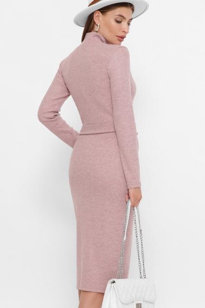 теплое платье-футляр. Платье Виталина 1 д/р. Цвет: пудра купить