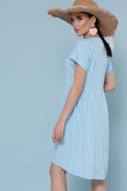 оливковое платье с коротким рукавом. Платье Вилена к/р. Цвет: голубой цена