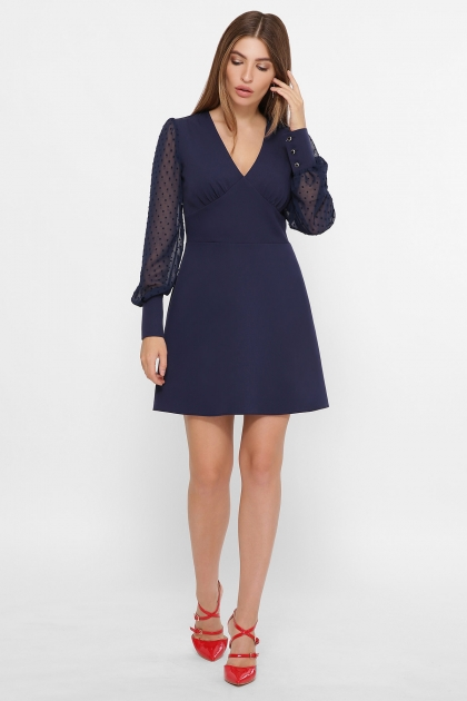 синее платье с шифоновыми рукавами. Платье Делила д/р. Цвет: синий купить