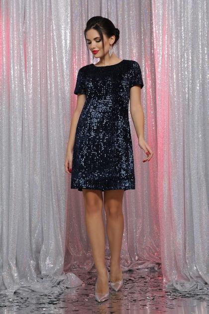 черное платье с пайетками. Платье Ираида к/р. Цвет: синий-синий цена