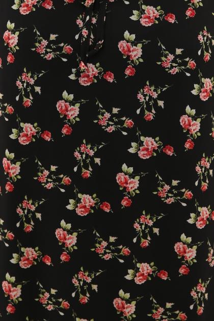 платье хаки из шифона. Платье Элисон 3/4. Цвет: черный-роза красная в Украине