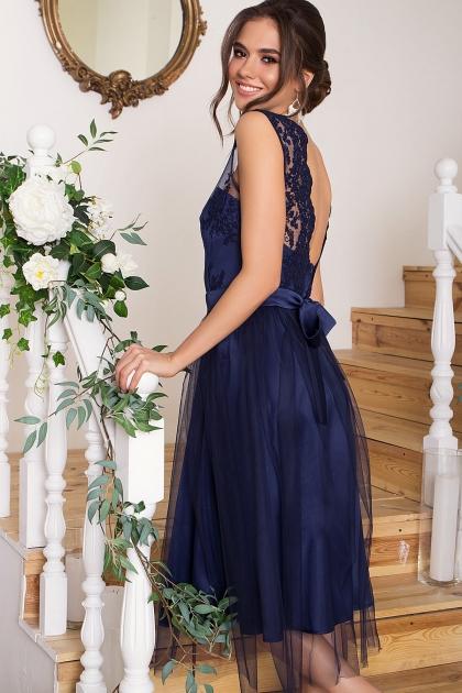выпускное платье с фатиновой юбкой. Платье Паиса б/р. Цвет: синий в интернет-магазине