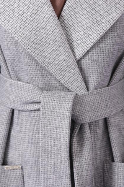демисезонное песочное пальто. Пальто П-347-М-90. Цвет: 15-св.серый в интернет-магазине
