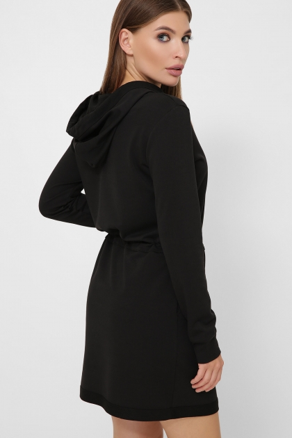 черное платье спортивного стиля. Платье Кити д/р. Цвет: черный купить