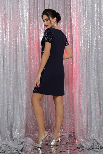 черное платье с пайетками. Платье Ираида к/р. Цвет: синий-синий в интернет-магазине