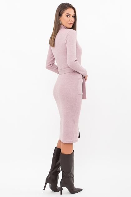 теплое платье-футляр. Платье Виталина 1 д/р. Цвет: пыльная роза цена