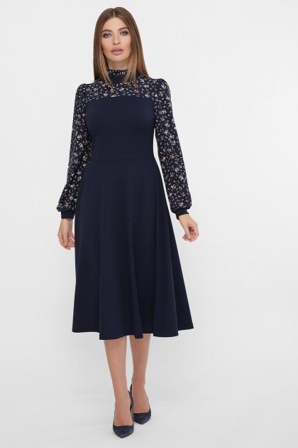 черное платье с цветами. Платье Алтея д/р. Цвет: синий купить