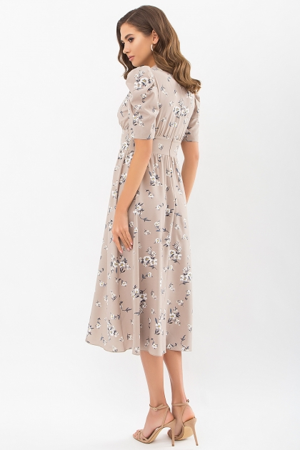 . Платье Фариза к/р. Цвет: бежевый-белый букет цена