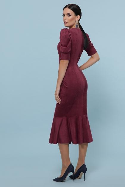 бордовое платье с воланом внизу. Платье Дания к/р. Цвет: бордо в интернет-магазине