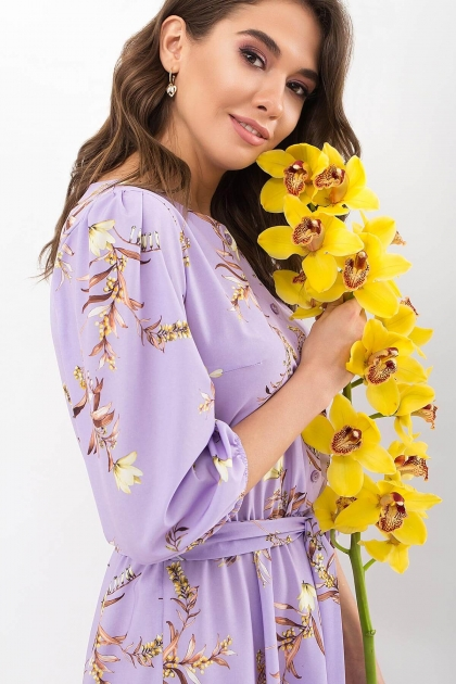 . Платье Сауле 3/4. Цвет: лавандовый-ветка цена