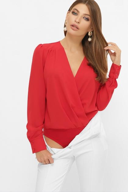 белая блузка-боди. Блуза-боди Карен д/р. Цвет: красный купить