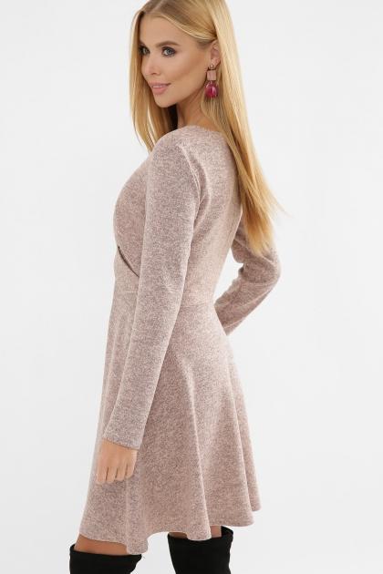 персиковое платье на осень-зиму. Платье Дафна д/р. Цвет: персик в Украине