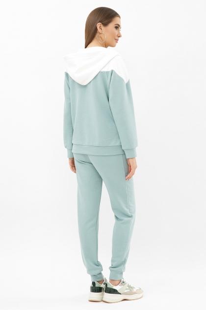 бирюзовый спортивный костюм. Костюм Пэм. Цвет: св.бирюзовый-белая отд. цена