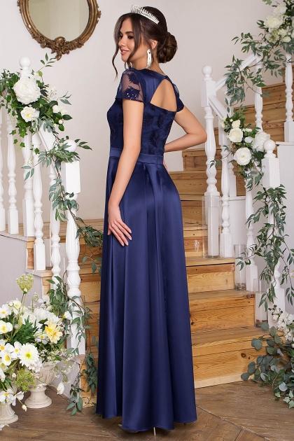 синее платье в пол. Платье Лорена к/р. Цвет: синий купить