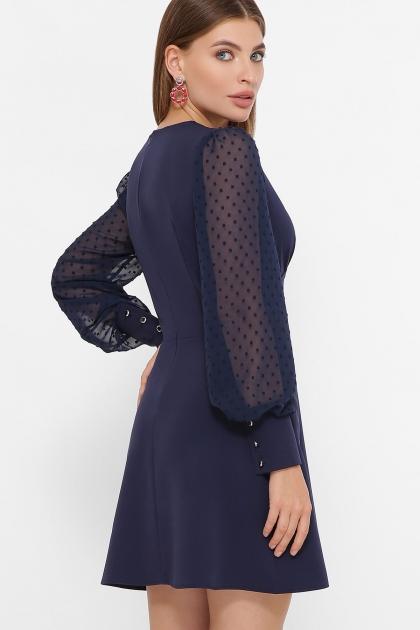 синее платье с шифоновыми рукавами. Платье Делила д/р. Цвет: синий цена