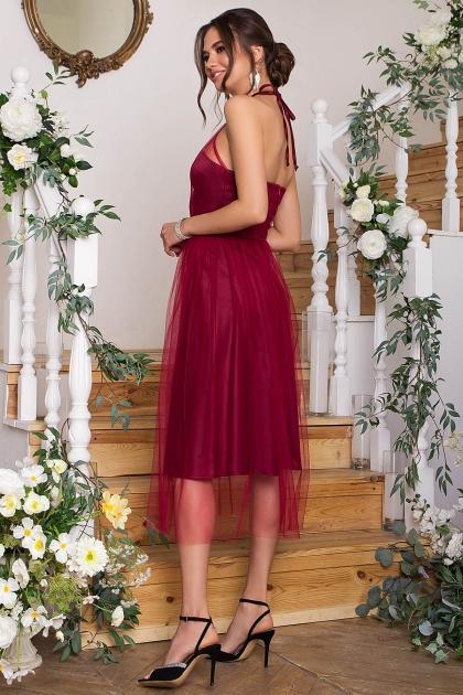 синее платье миди. Платье Джена б/р. Цвет: бордо купить