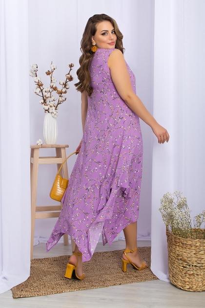 . Сарафан Сабина-1Б. Цвет: лиловый-цветы веточки цена